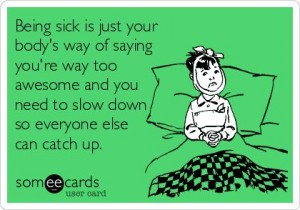being sick funny