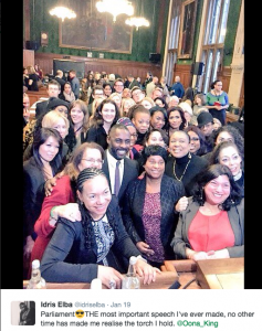 Idris Elba UK Parliament diversity on screen