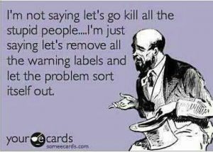 self awareness and stupid people
