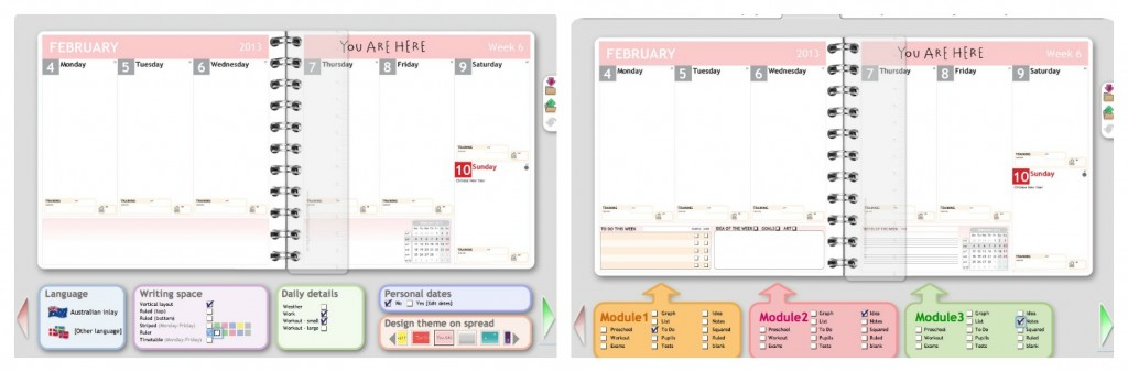 planner - middle pages
