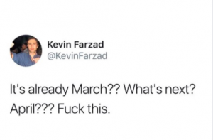 March 2018 check-in